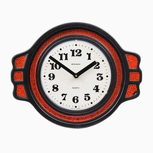 Fat Lava Keramik Uhr von Steiger, 1970er