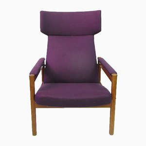 Mid-Century Wing Chair by Soren Hansen for Fritz Hansen