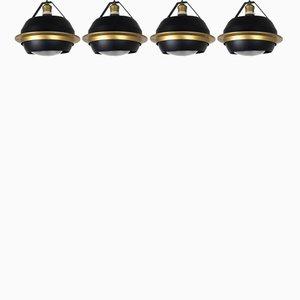 Lampade da soffito modello SP20 di Stilnovo, anni '60, set di 4