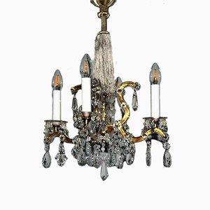 Vintage Maria Theresia Kristall Kronleuchter von Lobmeyr
