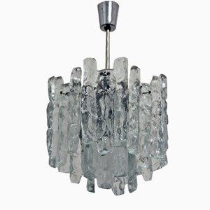 Lámpara de araña de vidrio de Kalmar, años 60