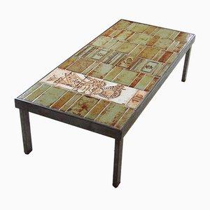 Tavolino da caffè in ceramica di Roger Capron, 1968