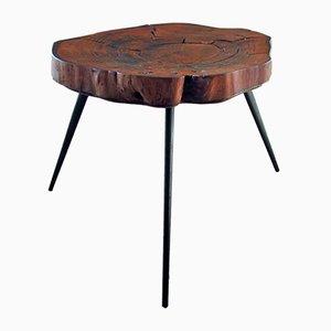 Tavolino da caffè realizzato da tronco, anni '50