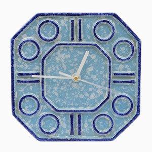 Orologio da parete in ceramica di Keramo Kozlany, anni '70