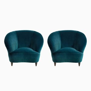 Sculptural Lounge Chairs by Ico & Luisa Parisi, 1950s, Set of 2