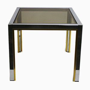 Brass & Chrome Side Table, 1970s
