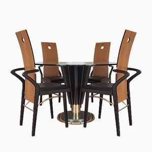 Table de Salle à Manger & 4 Chaises par Pierre Cardin, 1970s