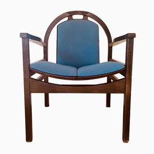 Vintage Blue Argos Armchair from Baumann