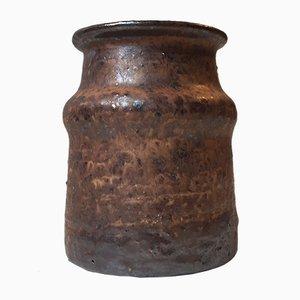 Skandinavische Moderne Keramik Vase von Kjell Bolinder für Höganäs, 1967