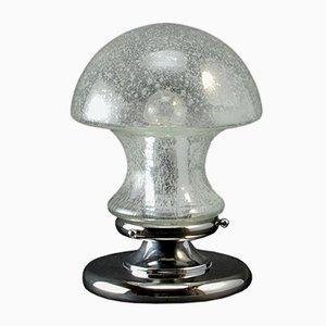 Mid-Century Chrom und Glas Mushroom Tischlampe von Baum Leuchten, 1970er