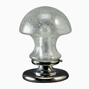Mid-Century Chrome and Glass Mushroom Table Lamp by Baum Leuchten, 1970s