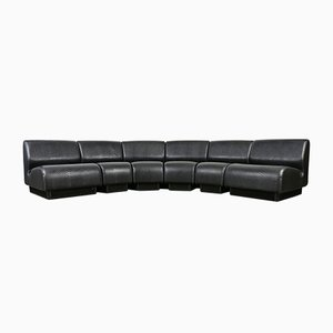 Mid-Century Black Snakeskin Modular Sofa by Don Chadwick for Herman Miller, 1970s