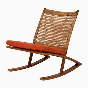 Rocking Chair Mid-Century par Fredrik A. Kayser
