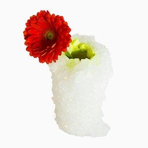 Neon Crystal Vase in Gelb von Isaac Monté, 2018