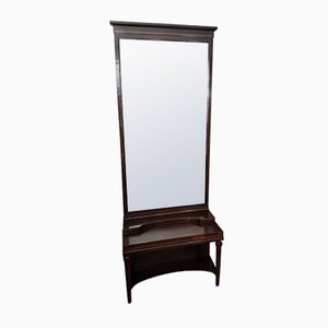 Antique Art Nouveau Standing Mirror