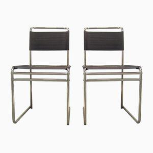 B5 Eisengarn Stühle von Marcel Breuer für Tecta, 1980er, 2er Set