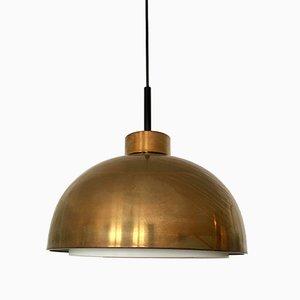 Lampe à Suspension Mid-Century en Laiton de Doria, 1960s