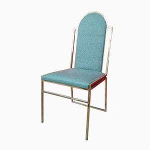Brass Frame Dining Chairs, 1970s, Set of 4