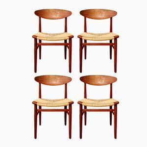 Dänische Mid-Century Esszimmerstühle von Børge Mogensen für Søborg Møbelfabrik, 1960er, 4er Set