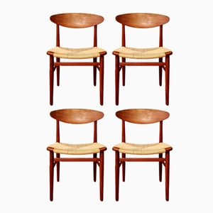 Danish Mid-Century Dining Chairs by Børge Mogensen for Søborg Møbelfabrik, 1960s, Set of 4