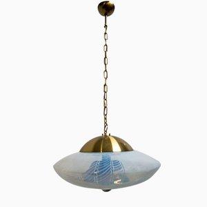 Lampada da soffitto Space Age in vetro di Murano di Mazzega, anni '60