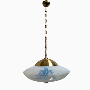Space Age Ceiling Light in Murano Glass from Mazzega, 1960s