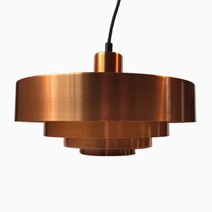 Mid-Century Danish Copper Roulet Pendant Lamp by Jo Hammerborg for Fog & Mørup, 1963