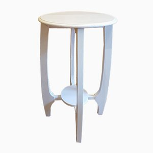 Art Nouveau White Lacquered Flower Stand