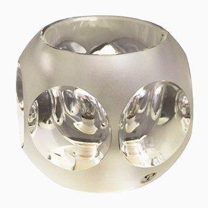 Kristallglas Tischlampe von Peill & Putzler, 1970er