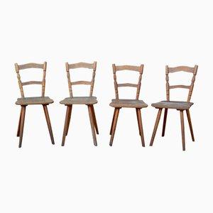 Vintage Holzstühle, 4er Set