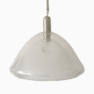 Lampe à Suspension Mid-Century en Verre de Murano par Carlo Nason pour Mazzega, 1960s