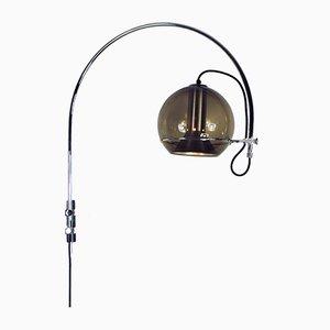 Kugel Bogen- Wandlampe von Frank Ligtelijn für Raak, 1970er