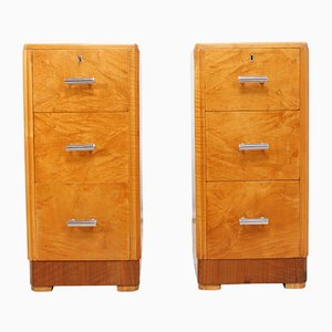 Vintage Art Deco Cabinets from Maple and Co., Set of 2