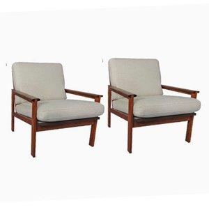 Vintage Pappelholz Capella Stühle von Illum Wikkelsø und Niels Eilersen, 2er Set
