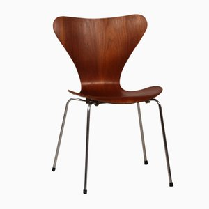 3107 Series 7 Chair in Teak by Arne Jacobsen for Fritz Hansen, 1966