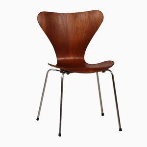 Chaise 3107 Série 7 en Teck par Arne Jacobsen pour Fritz Hansen, 1966