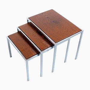 Set de Tables Gigognes avec Plateaux Réversibles par Cees Braakman pour Pastoe, 1960s
