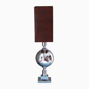 Lámpara de mesa de metal cromado, 1968