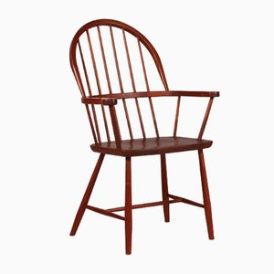 Dänischer Mid-Century Windsor Stuhl aus Teakholz