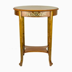 Tavolo da cucito Art Déco in legno di noce lucidato, anni '20