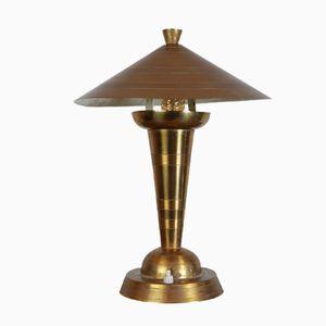 Brass Table Lamp by Edmond Etling for Etling, 1930s