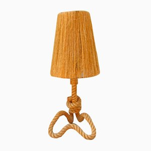 Rope Table Lamp by Adrien Audoux & Frida Minet, 1960s