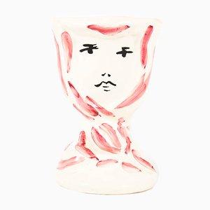 Vase en Céramique par Marcel Vertès pour Tapis Vert Vallauris, 1950s