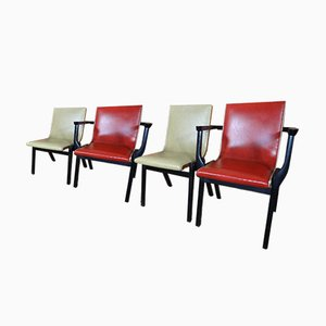 Ebonised Dining Chairs from Stako, 1950s, Set of 4