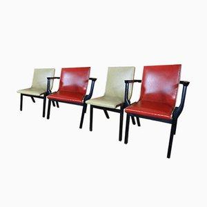 Ebonisierte Esszimmerstühle von Stako, 1950er, 4er Set