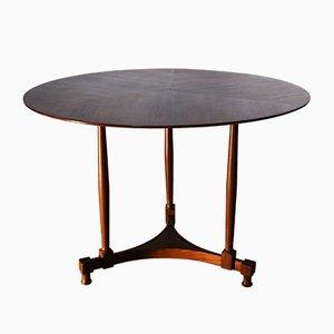 Italienischer runder Teakholz Tisch, 1950er