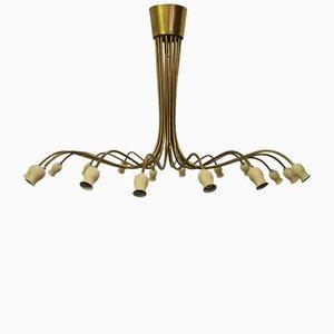 Lámpara de araña de Oscar Torlasco para Lumi, años 50