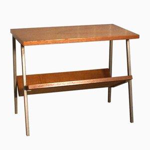 Table d'Appoint Vintage en Placage de Teck avec Porte-Revues