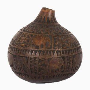 Dekorative Holz Vase, 1950er