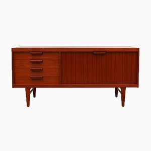 Sideboard in Teak with 2 Doors and Drawers, 1964